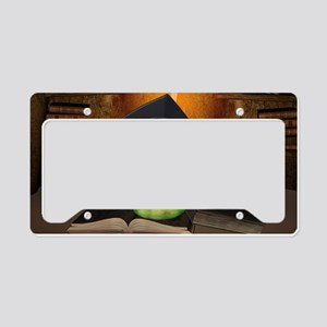 Cute bookworm License Plate Holder