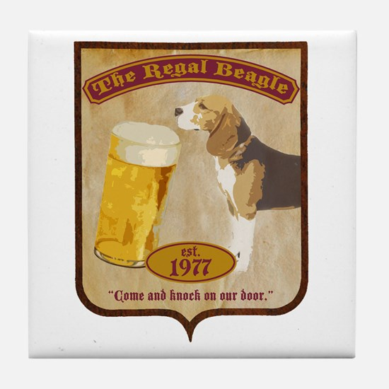 Regal Beagle Tile Coaster