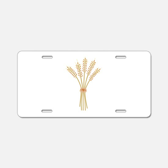 Wheat Bundle Aluminum License Plate