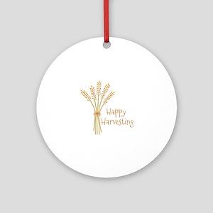 Happy Harvesting Ornament (Round)
