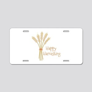 Happy Harvesting Aluminum License Plate