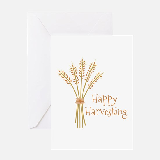 Happy Harvesting Greeting Cards