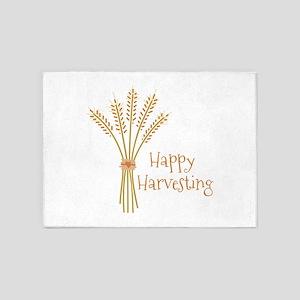 Happy Harvesting 5'x7'Area Rug