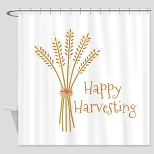 Happy Harvesting Shower Curtain