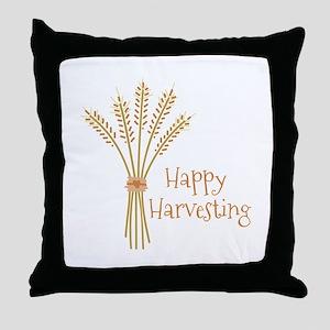 Happy Harvesting Throw Pillow