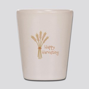 Happy Harvesting Shot Glass