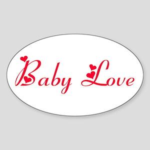 Baby Love Oval Sticker