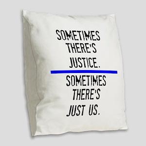 Justice Burlap Throw Pillow