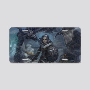 dragonborn and alduin Aluminum License Plate