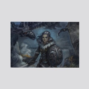 dragonborn and alduin Rectangle Magnet