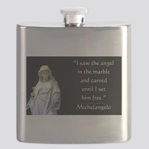 Angel in Marble Flask