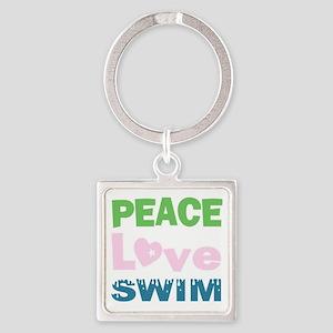 peace.love.swim Keychains