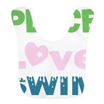 peace.love.swim Bib