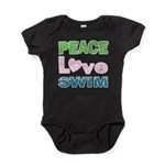 peace.love.swim Baby Bodysuit