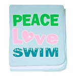 peace.love.swim baby blanket