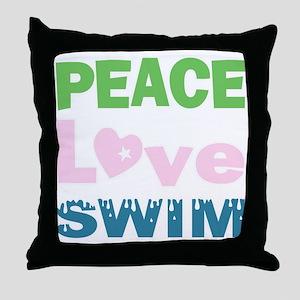 peace.love.swim Throw Pillow