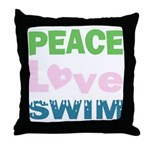 peace.love.swim Throw Pillow