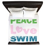 peace.love.swim King Duvet