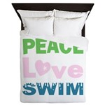 peace.love.swim Queen Duvet