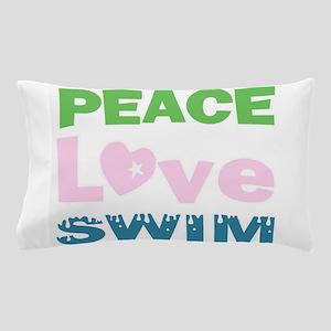 peace.love.swim Pillow Case