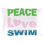 peace.love.swim Pillow Case