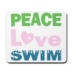 peace.love.swim Mousepad