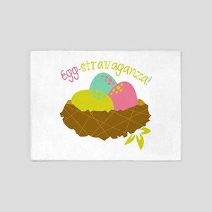 Egg-Stravaganza! 5'x7'Area Rug