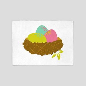 Easter Egg Nest 5'x7'Area Rug
