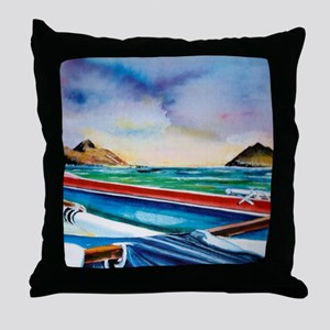 Lanikai Canoe Throw Pillow