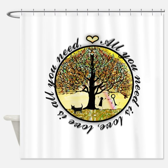 All You Need Is Love Tree Of Life. Shower Curtain