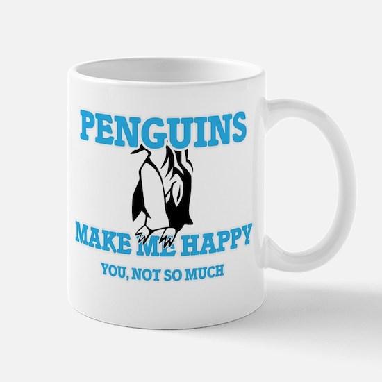 Penguins Make Me Happy Mugs