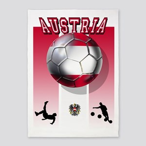 Austrian Football 5'x7'area Rug