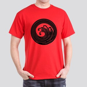 Swirl-like wave circle Dark T-Shirt