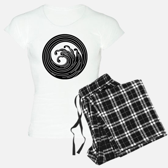 Swirl-like wave circle Pajamas