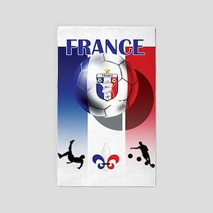 France Football 3'x5' Area Rug
