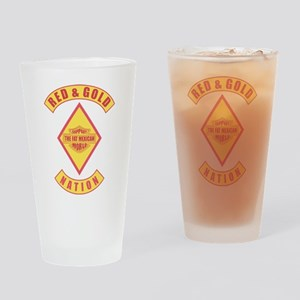 Red and gold support Mexican Drinking Glass