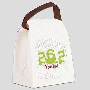 Marathon Optional Text Canvas Lunch Bag