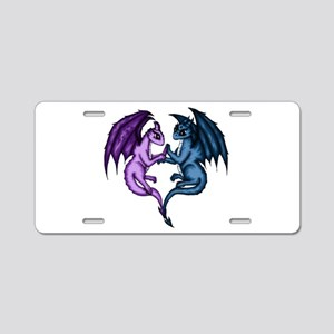 Dragon Couple Aluminum License Plate