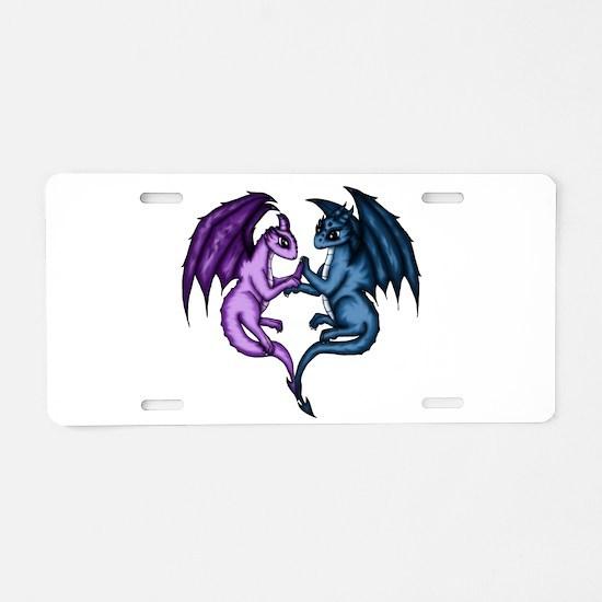 Dragon Couple Aluminum License Plate