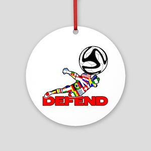 Goalie Defend Ornament (Round)