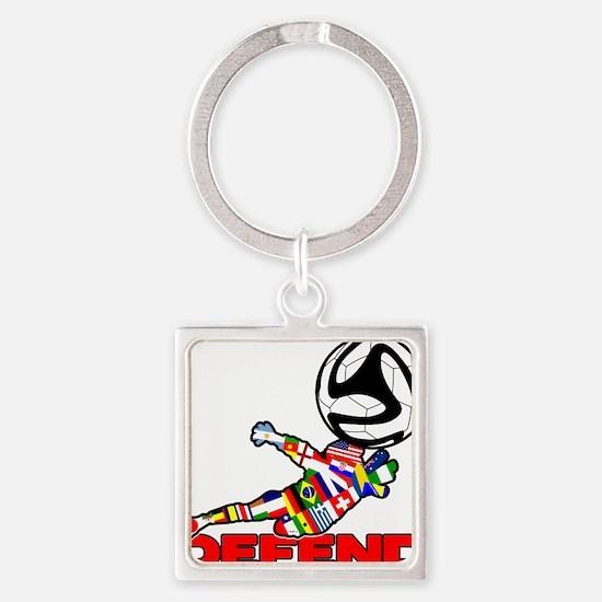 Goalie Defend Keychains