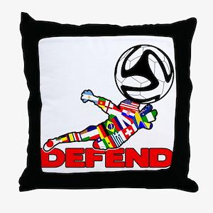 Goalie Defend Throw Pillow