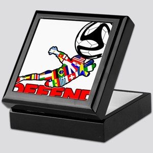 Goalie Defend Keepsake Box