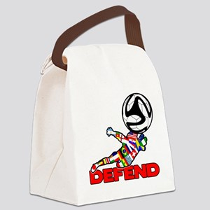Goalie Defend Canvas Lunch Bag