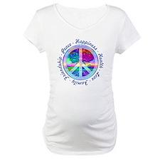 Peace Symbol Maternity T-Shirt