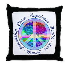 Peace Symbol Throw Pillow