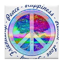 Peace Symbol Tile Coaster