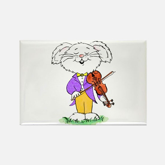 Mouse with violin - Rectangle Magnet