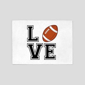 Love football 5'x7'Area Rug