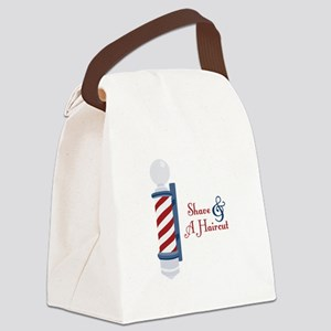 Shave And A Haircut Canvas Lunch Bag